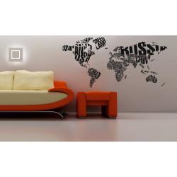Wereldkaart sticker
